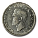 1942 Great Britain Silver Half Crown George VI AU