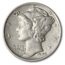 1942 Mercury Dime AU