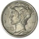1942 Mercury Dime BU