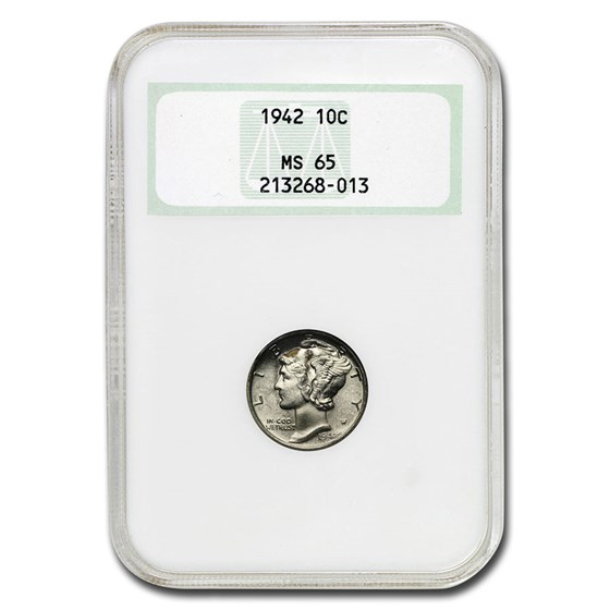 1942 Mercury Dime MS-65 NGC
