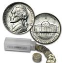 1942-S 35% Silver Wartime Jefferson Nickel Roll BU (40 ct)
