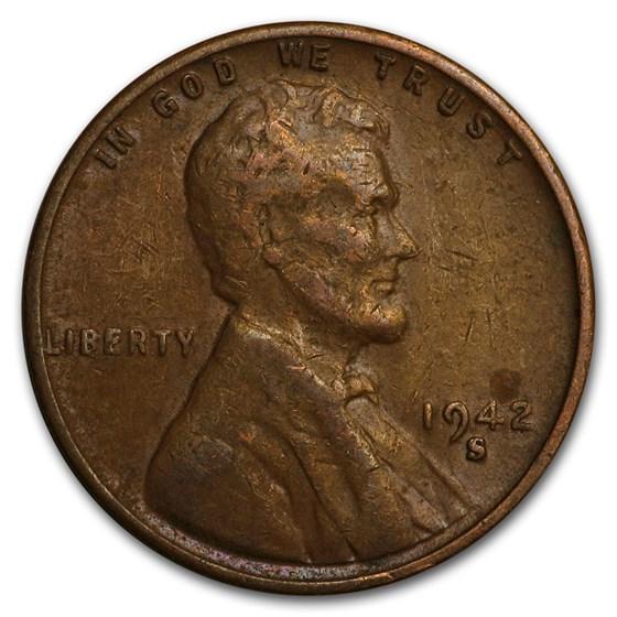 1942-S Lincoln Cent Fine+