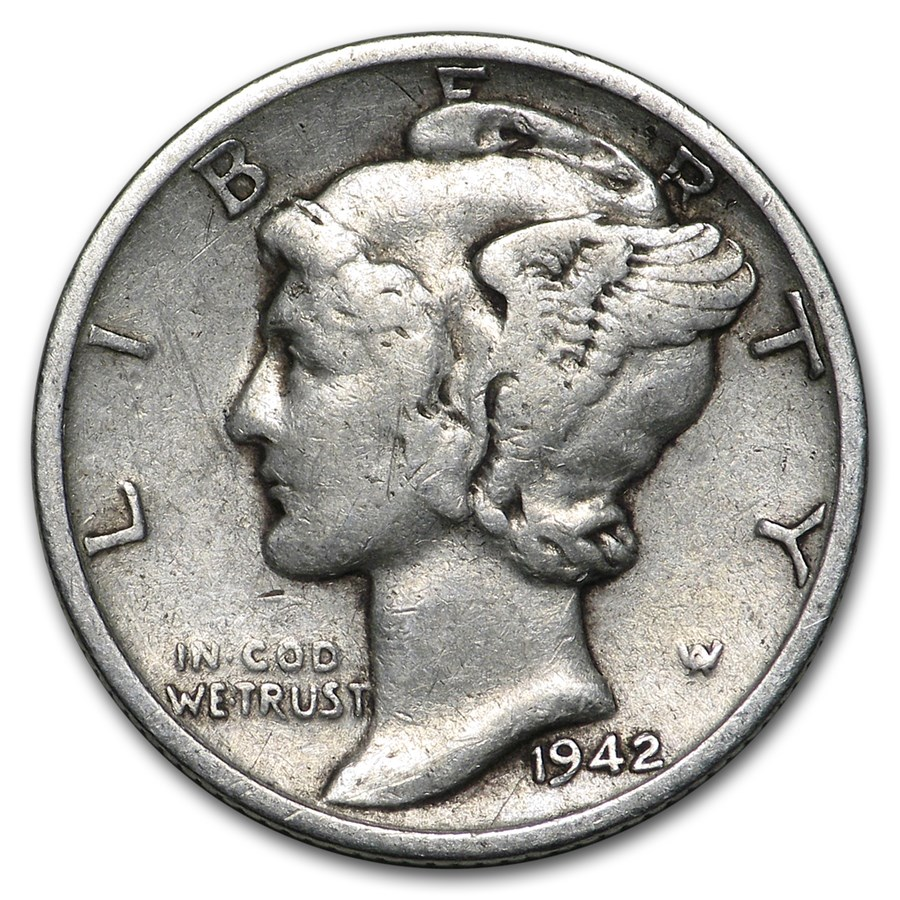 1942-S Mercury Dime Good/VF