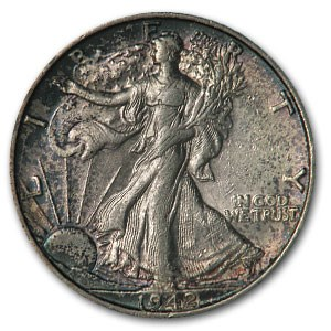 1942-S Walking Liberty Half Dollar MS-62