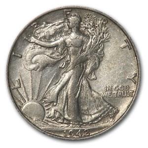 1942-S Walking Liberty Half Dollar XF