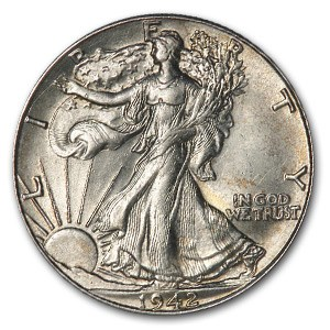1942 Walking Liberty Half Dollar AU