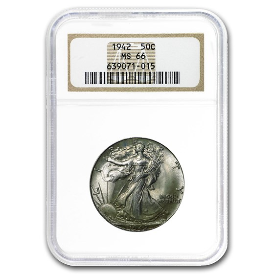 1942 Walking Liberty Half Dollar MS-66 NGC
