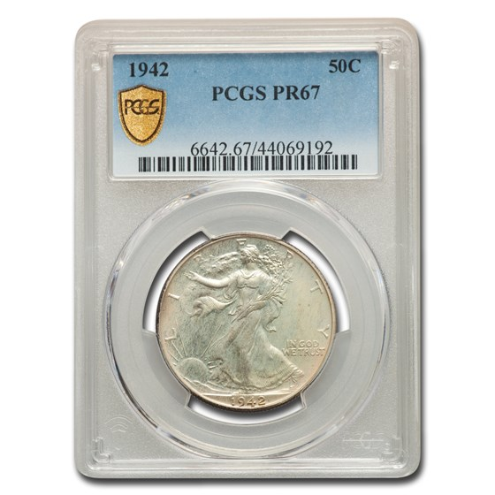 1942 Walking Liberty Half Dollar PR-67 PCGS