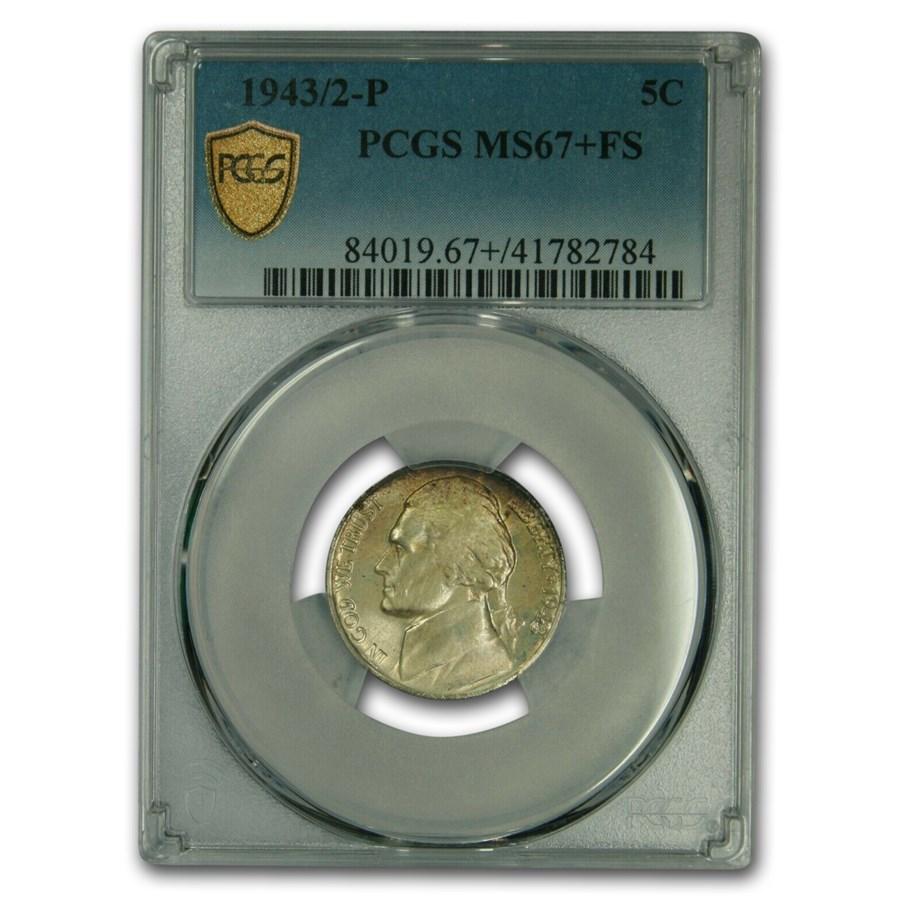 1943/2-P Silver Jefferson Nickel MS-67+ PCGS (FS)