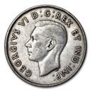 1943 Canada Silver 50 Cents George VI XF