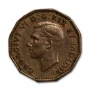 """1943 Canada Tombac Brass 5 Cents Avg Circ (Torch on """"V"""")"""
