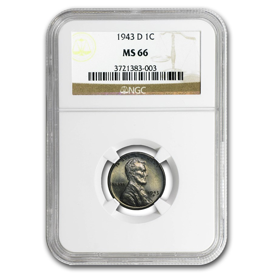 1943-D Lincoln Cent MS-66 NGC