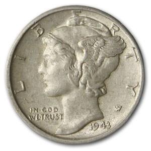 1943-D Mercury Dime AU
