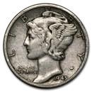 1943-D Mercury Dime Good/VF