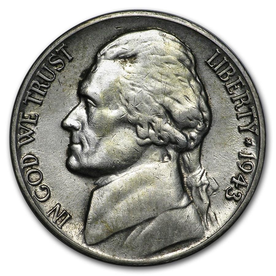1943-D Silver Wartime Jefferson Nickel AU