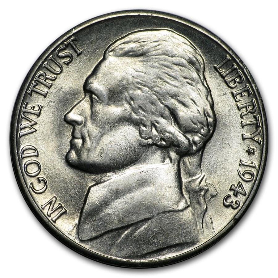 1943-D Silver Wartime Jefferson Nickel BU