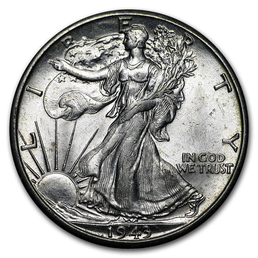1943-D Walking Liberty Half Dollar BU