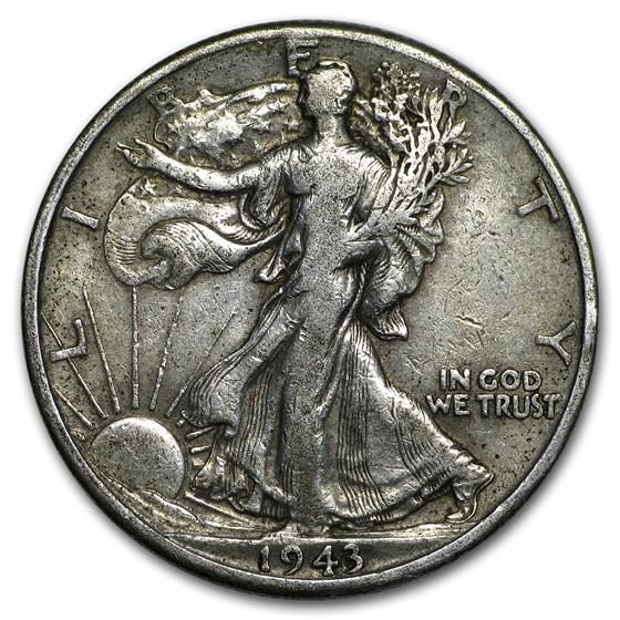 1943-D Walking Liberty Half Dollar Fine/VF