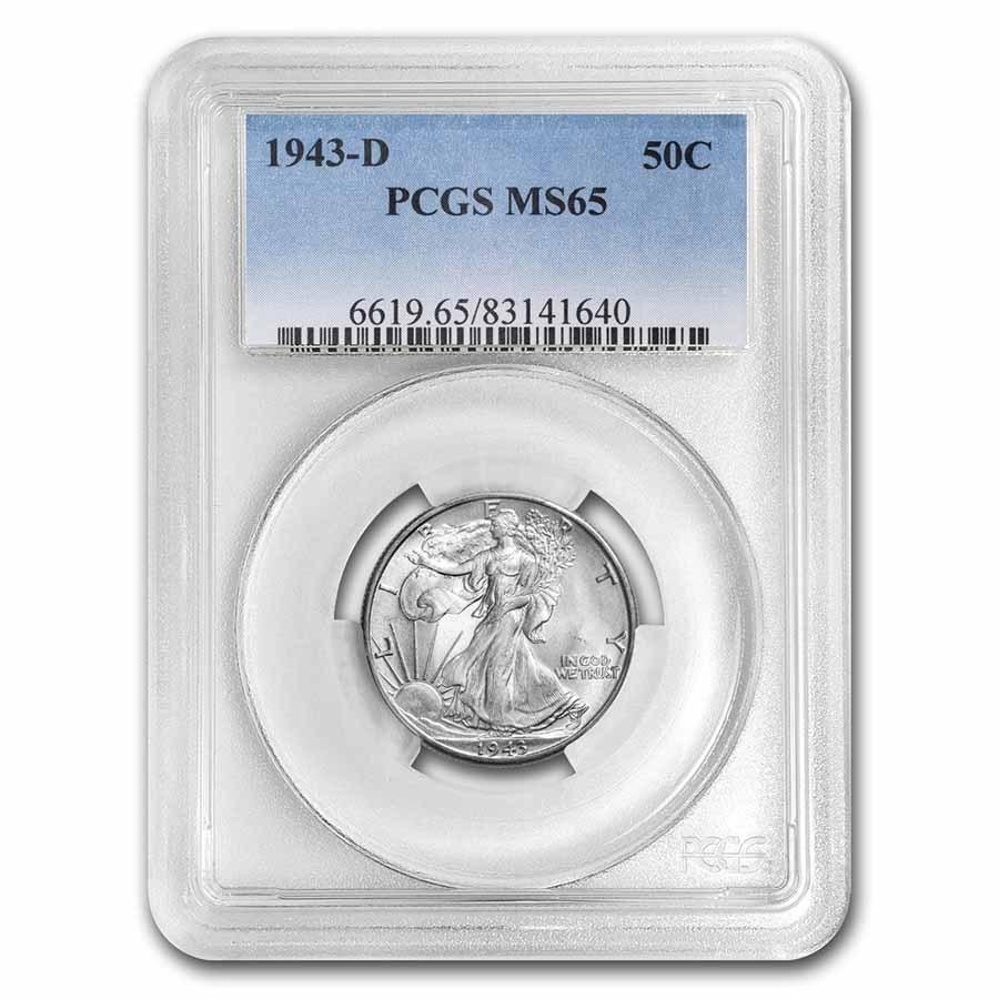 1943-D Walking Liberty Half Dollar MS-65 PCGS