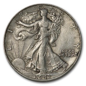 1943-D Walking Liberty Half Dollar XF