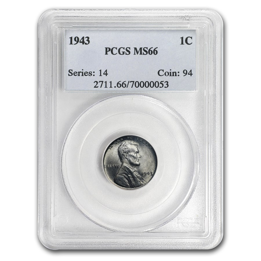 1943 Lincoln Cent MS-66 PCGS
