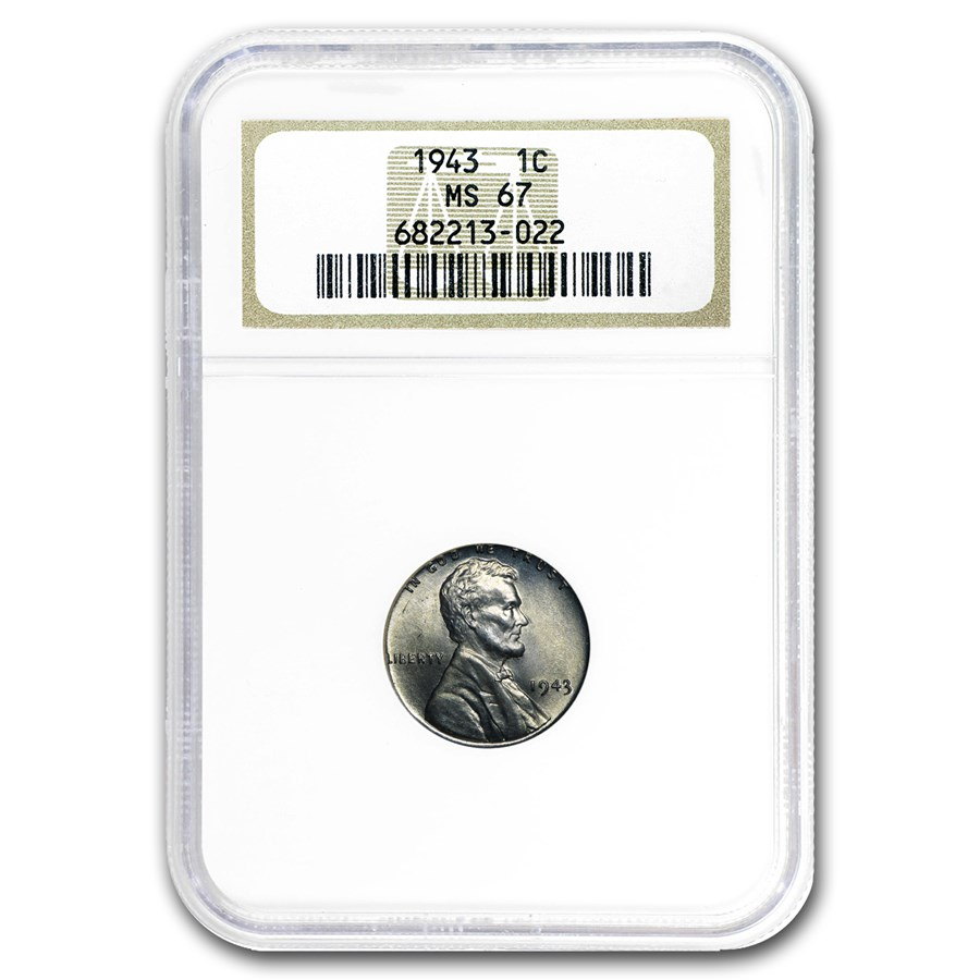 1943 Lincoln Cent MS-67 NGC