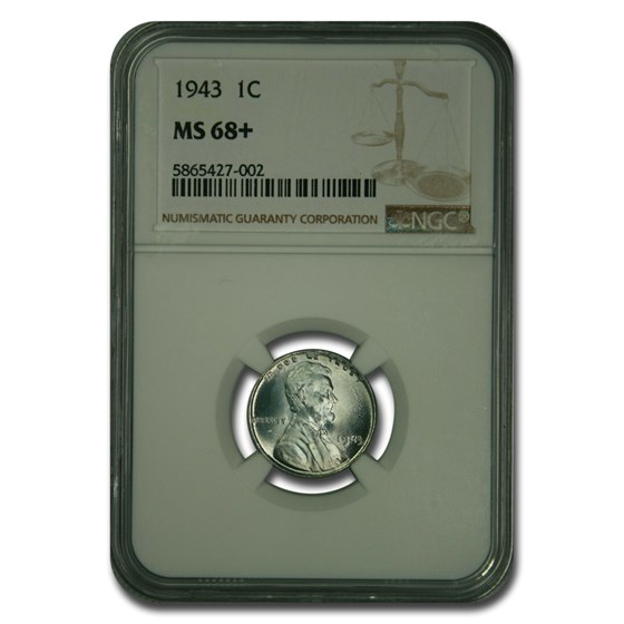 1943 Lincoln Cent MS-68+ NGC