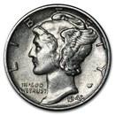 1943 Mercury Dime AU