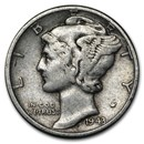 1943 Mercury Dime Good/VF