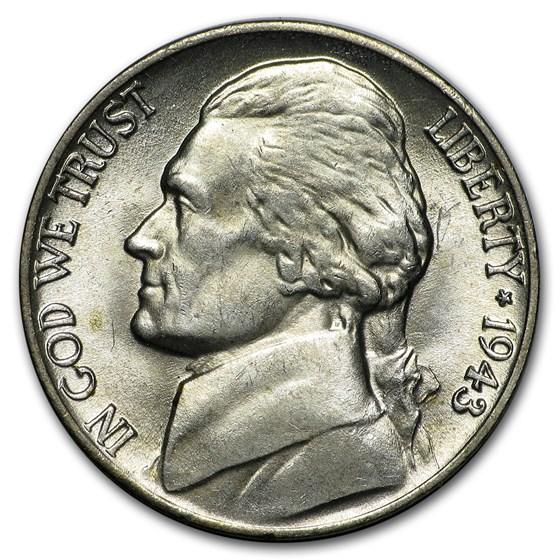 1943-P Silver Wartime Jefferson Nickel BU