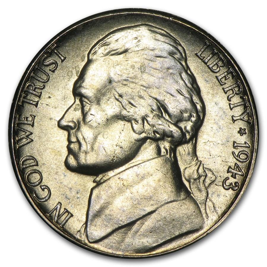 1943-S Jefferson Nickel BU