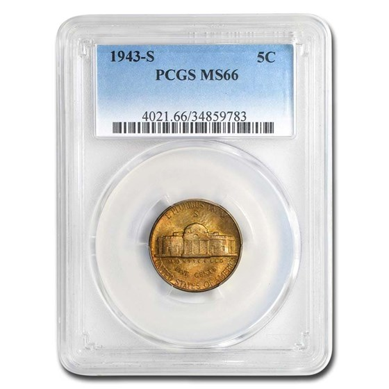 1943-S Jefferson Nickel MS-66 PCGS (Toned)