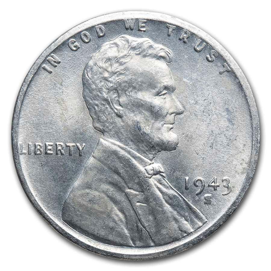 1943-S Lincoln Cent BU