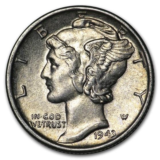 1943-S Mercury Dime AU