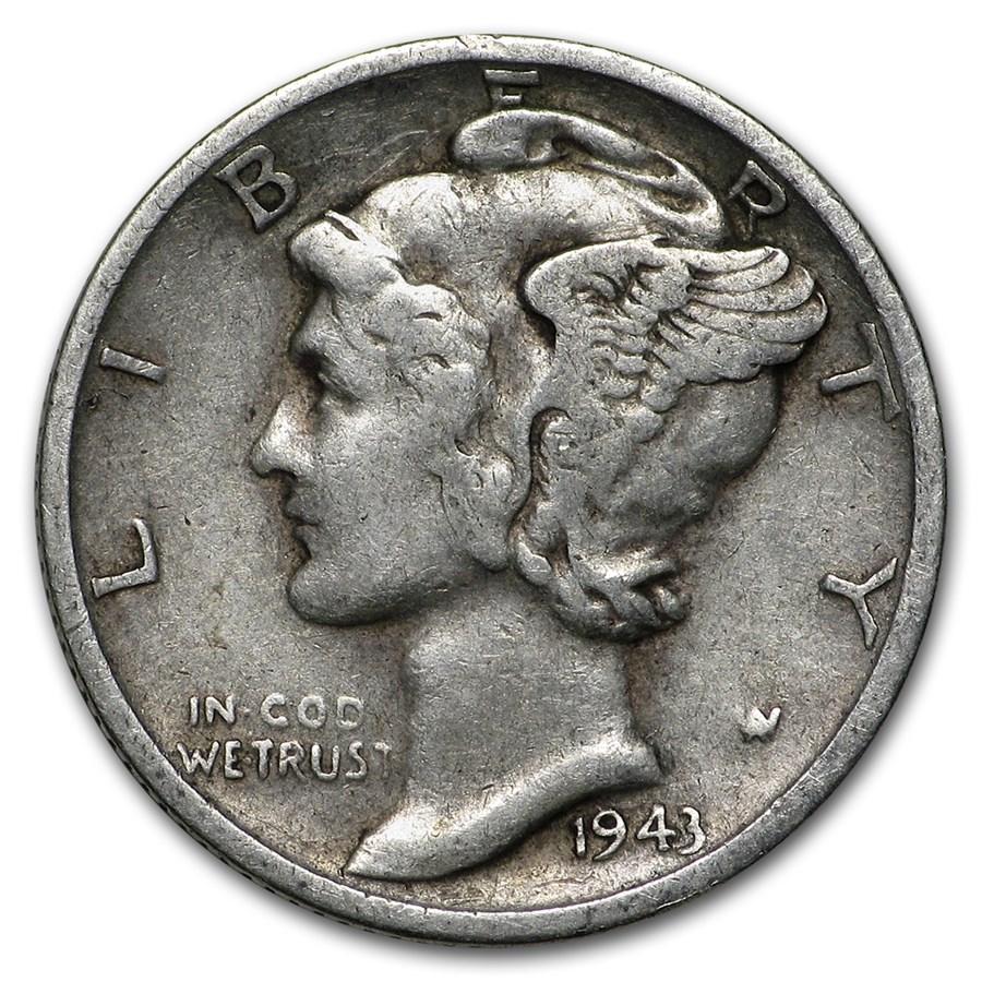 1943-S Mercury Dime Good/VF