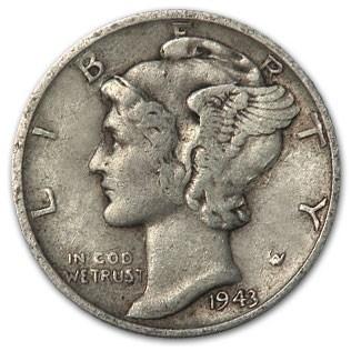 1943-S Mercury Dime XF