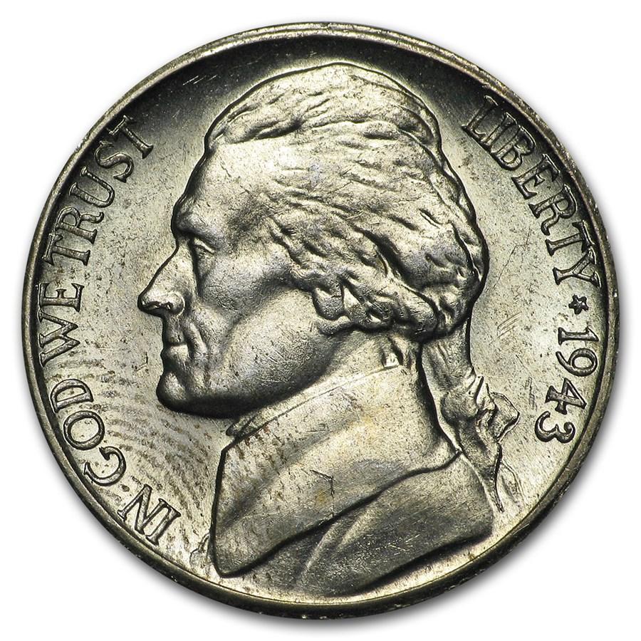 1943-S Silver Wartime Jefferson Nickel BU