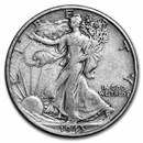 1943-S Walking Liberty Half Dollar Fine/VF