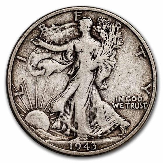 1943-S Walking Liberty Half Dollar Fine/VF