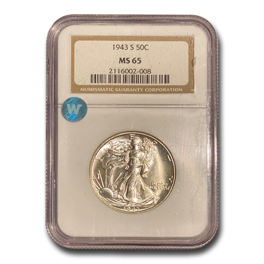 1943-S Walking Liberty Half Dollar MS-65 NGC