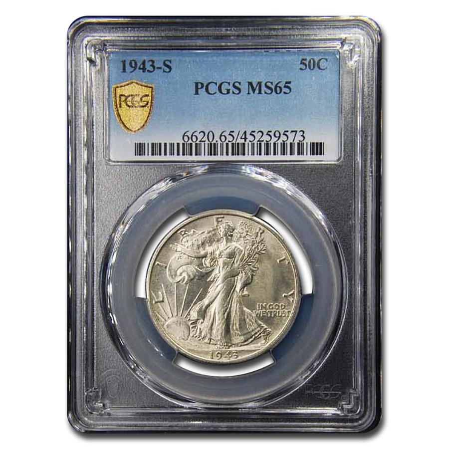 1943-S Walking Liberty Half Dollar MS-65 PCGS