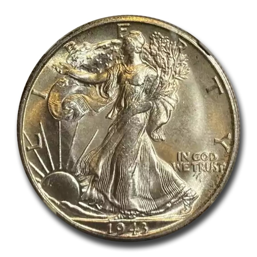 1943-S Walking Liberty Half Dollar MS-66 NGC
