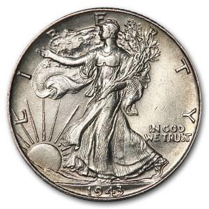 1943 Walking Liberty Half Dollar AU