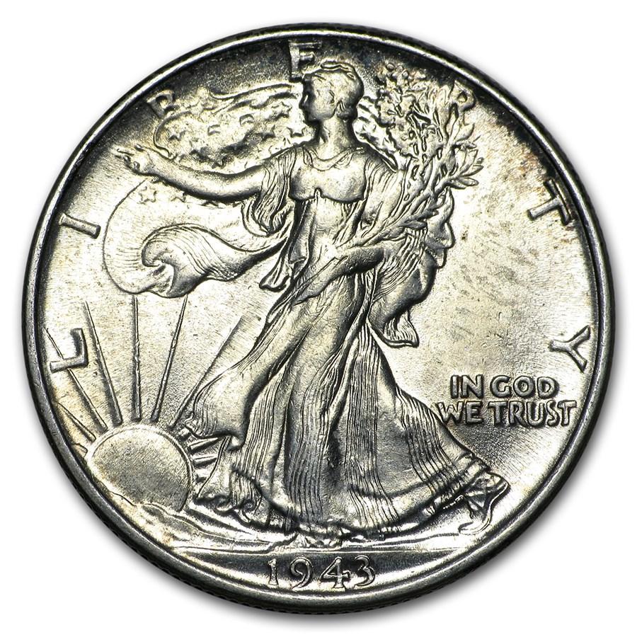 1943 Walking Liberty Half Dollar BU