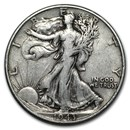 1943 Walking Liberty Half Dollar Fine/VF