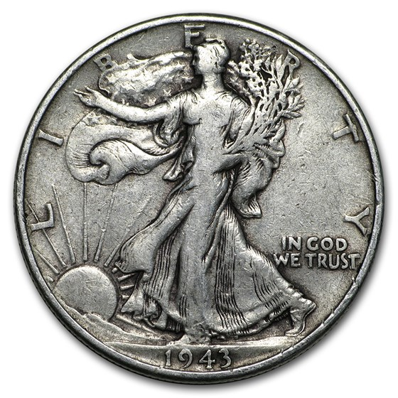 1943 Walking Liberty Half Dollar Fine/VF