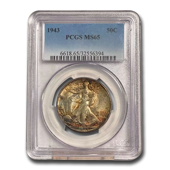 1943 Walking Liberty Half Dollar MS-65 PCGS