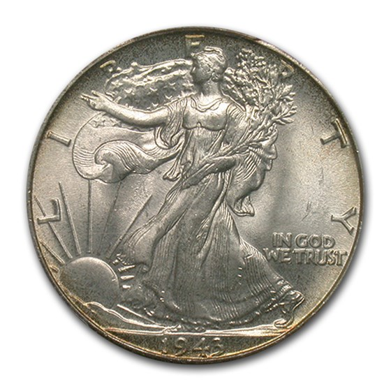 1943 Walking Liberty Half Dollar MS-66+ PCGS