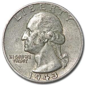 1943 Washington Quarter Good/XF