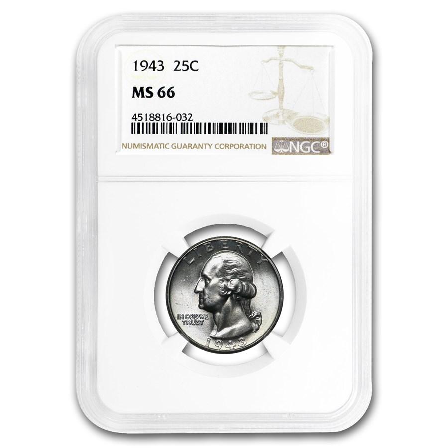 1943 Washington Quarter MS-66 NGC